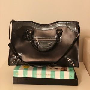 Black Balenciaga large handbag